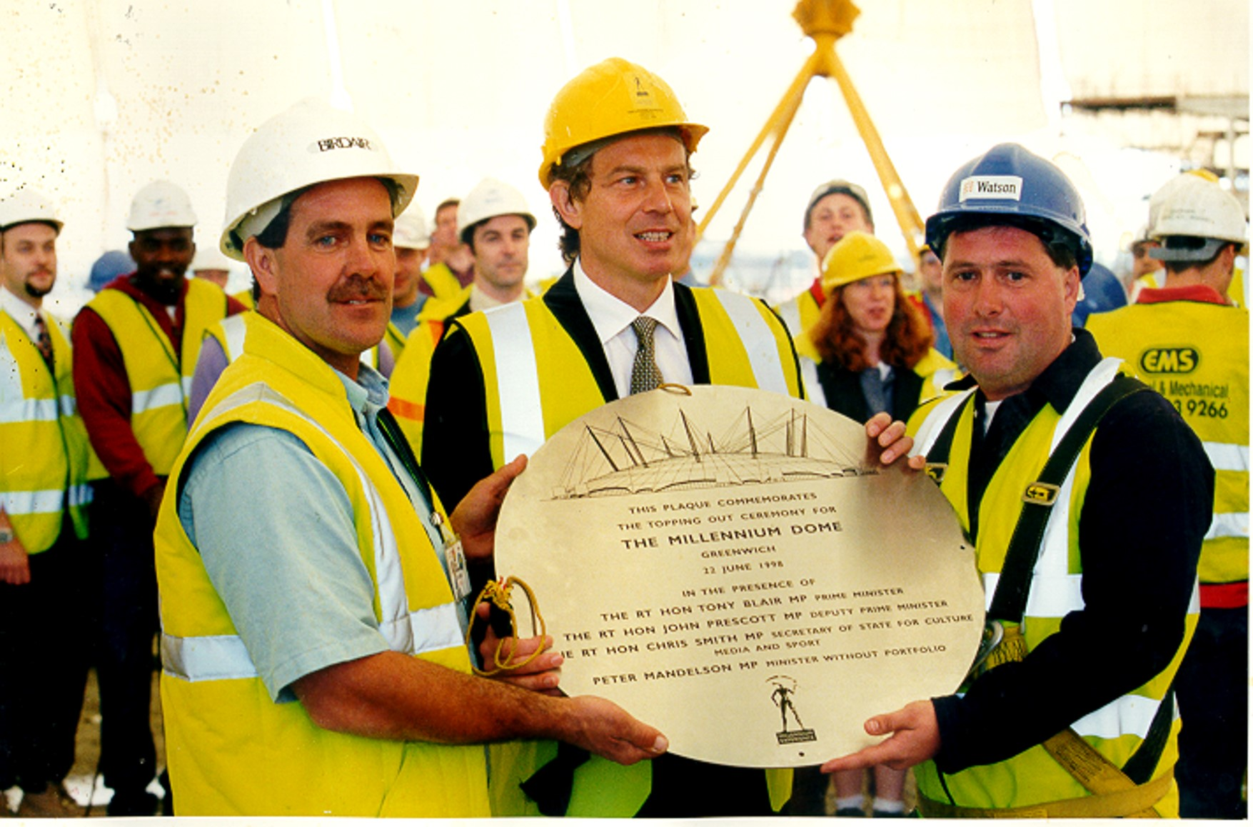Millennium Dome topping out ceremony.jpg