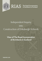 Independent Inquiry into Construction of Edinburgh Schools View of The Royal Incorporation of Architects in Scotland.jpg