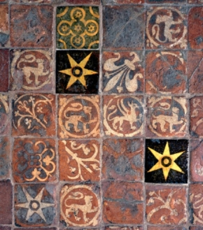Tiles in the retrochoir in Winchester Cathedral.jpg