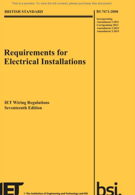 amendment 3 bs 7671 requirements for electrical installations iet rh designingbuildings co uk domestic electrical wiring regulations uk IEE Wiring Regulations PDF