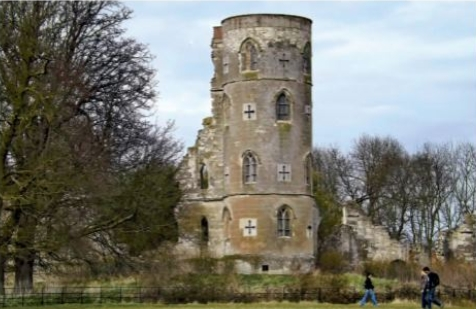 File:Wimpole Gothic Tower before conservation.jpg