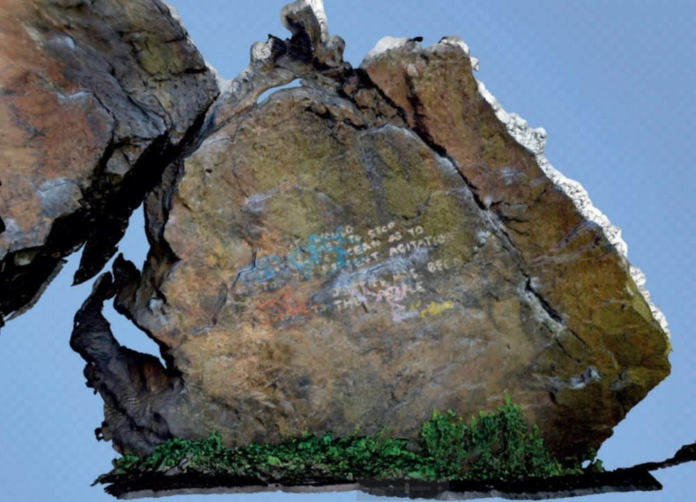 Photogrammetric model of Pongo boulder.jpg
