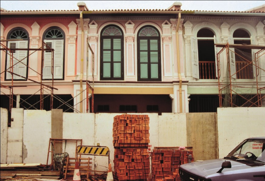 Singapore shophouses being refurbished.jpg