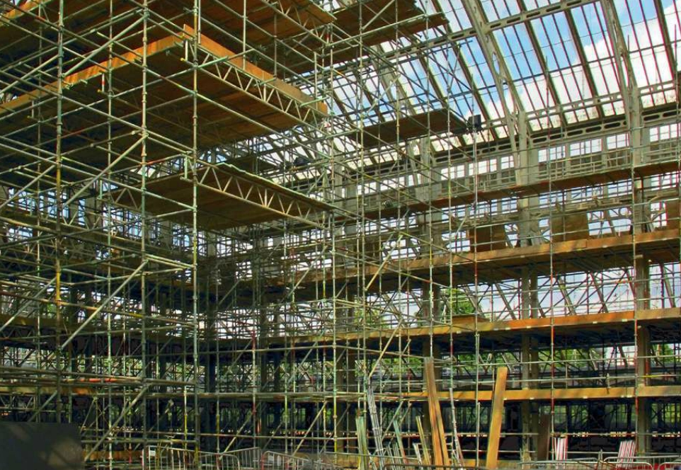 The Temperate Houe scaffolding rising in Centre Block.jpg