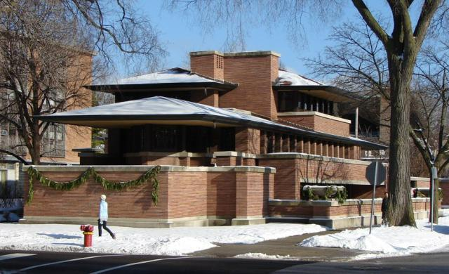 Prairie school style designing buildings wiki for Prairie home plans frank lloyd wright