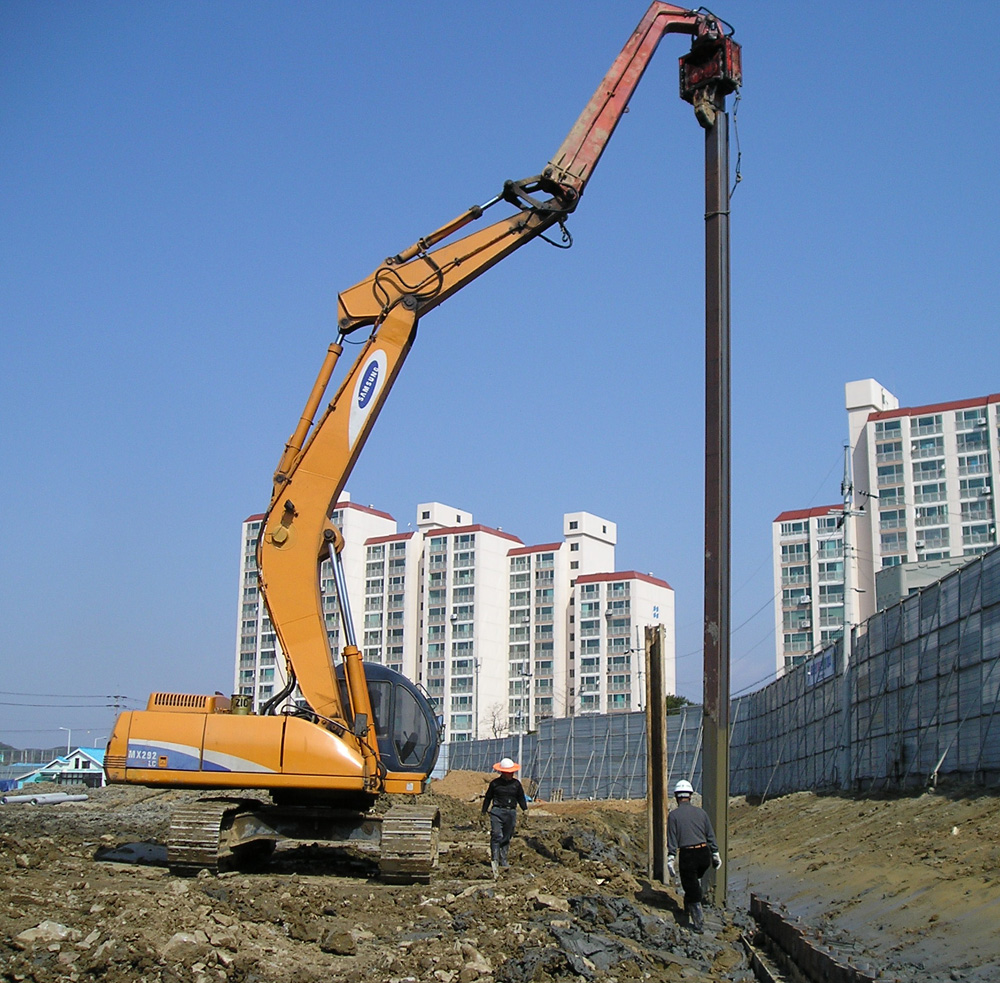 Piling equipment designing buildings wiki for Cost of pilings for foundations