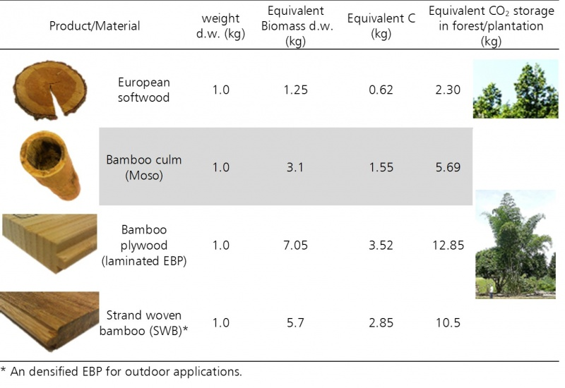 File:Equivalent C02 sequestration in bamboo and wood forest for different bamboo based products. Data from (J. G. Vogtländer et al., 2013).jpg
