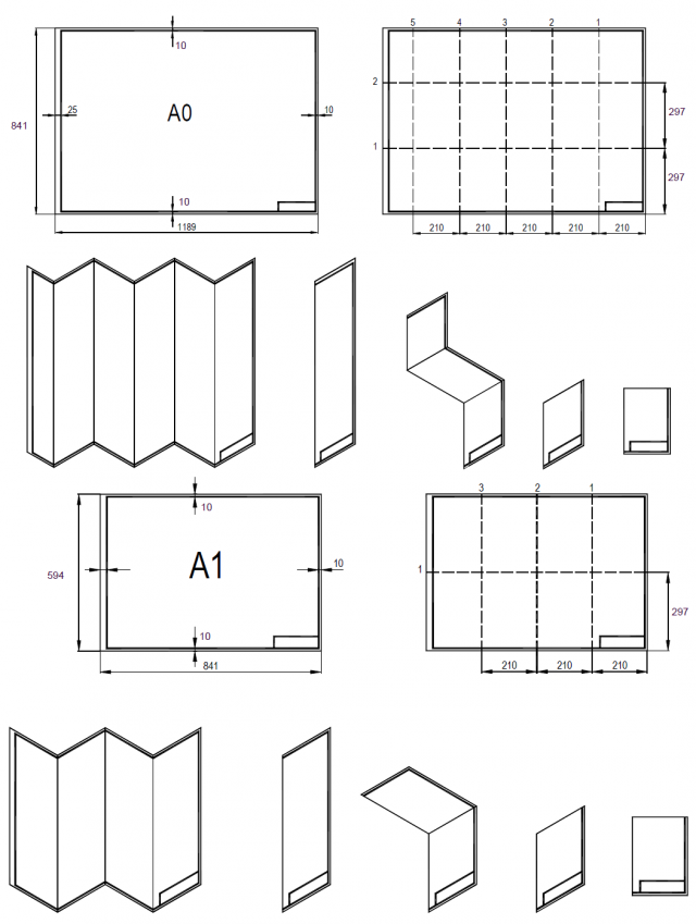 Architectural drawing paper sizes for Blueprint sizes