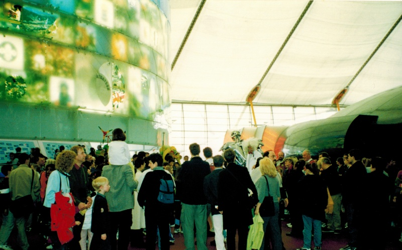 File:People inside the millennium dome.jpg